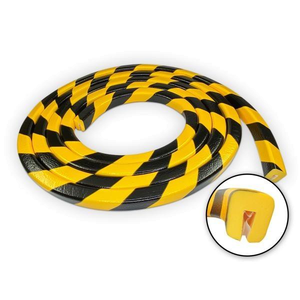 Knuffi SHG Warn- und Schutzprofil | Typ G | gelb/schwarz | 5m Rolle