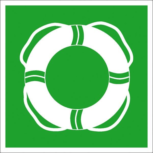 Erste-Hilfe-Schild: Öffentliche Rettungsausrüstung | Aufkleber | 20x20cm