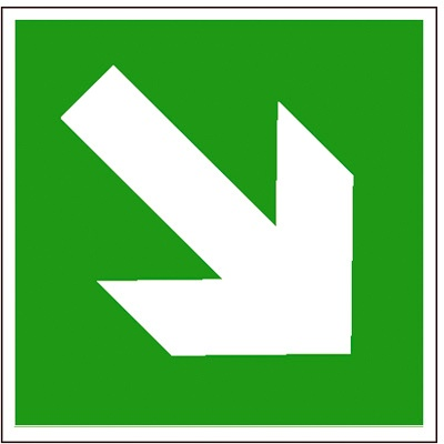 Zusatzschild: Richtungspfeil schräg | Aufkleber | 20x20cm