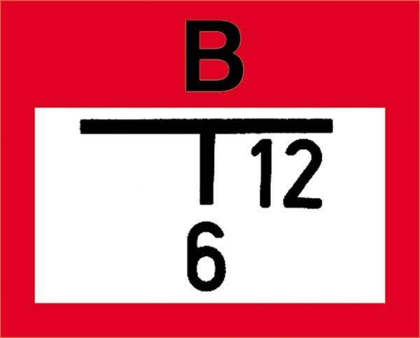 Hinweisschild für die Feuerwehr: Löschbrunnen f. Saugbetrieb | Aluminium geprägt | 25x20cm