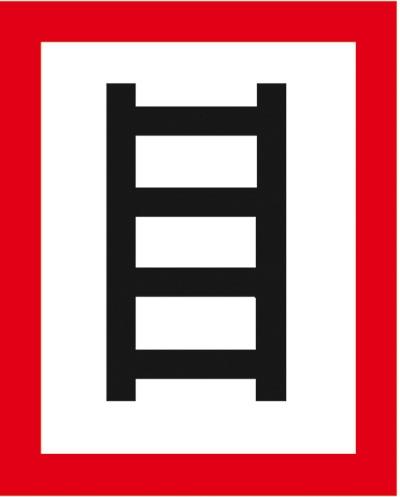 Hinweisschild für die Feuerwehr: Anleiterstelle | Aluminium geprägt | 20x25cm
