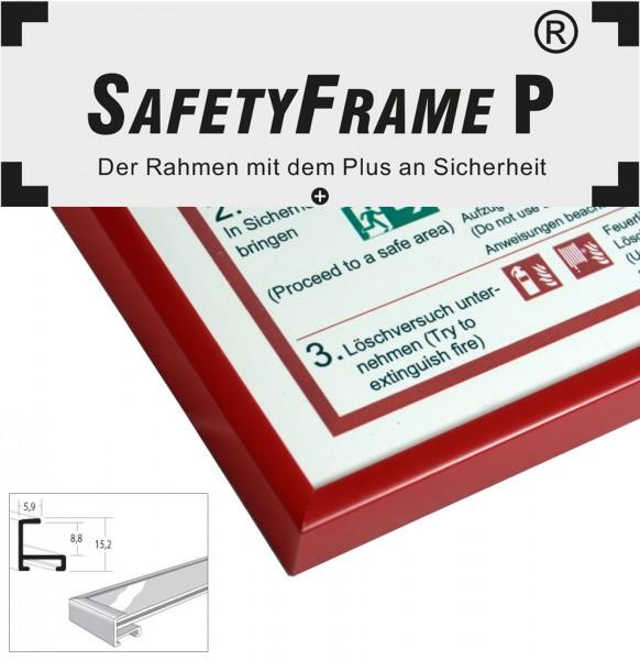 din a3 safetyframe p rahmen f r flucht und rettungspl ne rot safetyframe p safetyframe. Black Bedroom Furniture Sets. Home Design Ideas