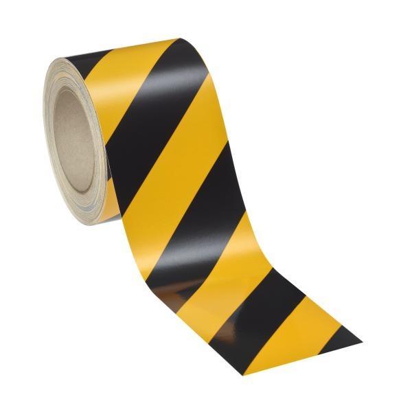 Industrie-Warnmarkierung   gelb-schwarz   linksweisend   reflektierend