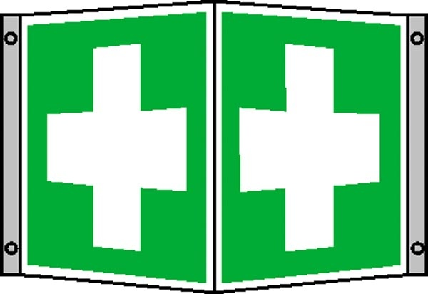 Erste-Hilfe-Schild: Erste Hilfe | Aluminium | 15x15cm