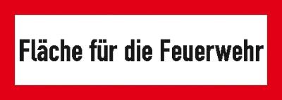 Hinweisschild für die Feuerwehr: Fläche für die Feuerwehr | Aluminium geprägt | 59,4x21cm
