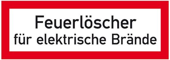 Hinweisschild für die Feuerwehr: Feuerlöscher | Aluminium geprägt | 21x7,4cm