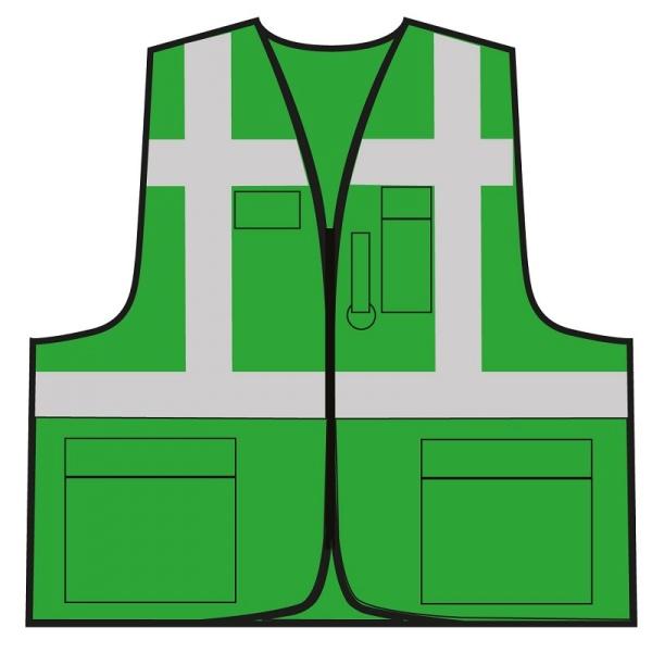 Multifunktionsweste - Grün