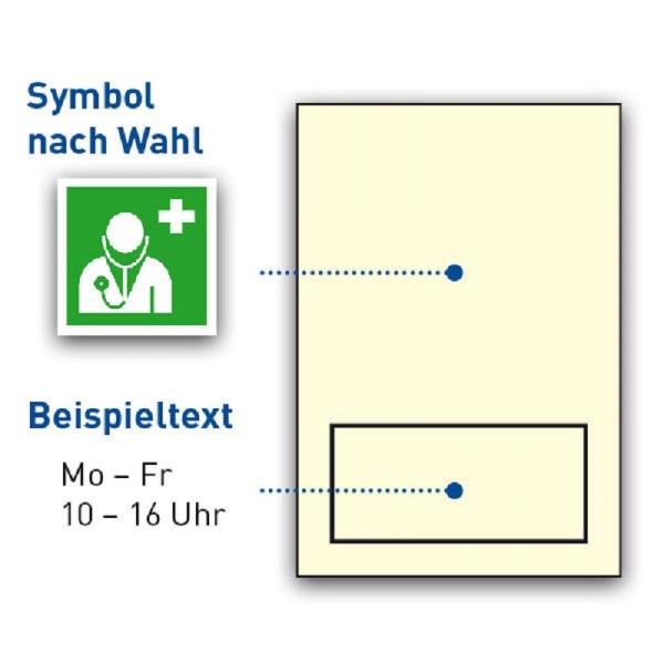 Schilder-Träger / nachleuchtend