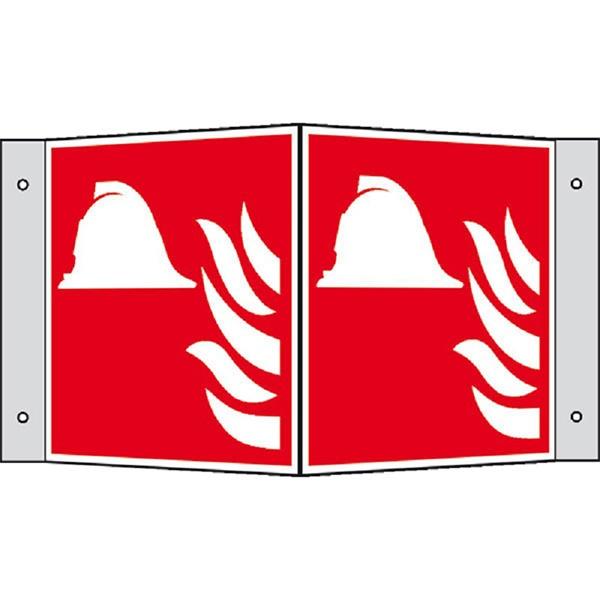 Brandschutzzeichen: Brandbekämpfung | Aluminium | 15x15cm