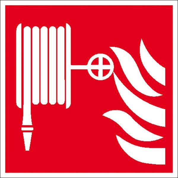 Brandschutzzeichen: Löschschlauch | Aufkleber | 20x20cm