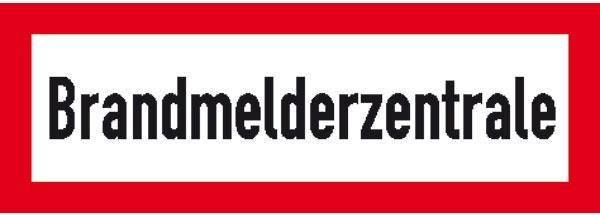 Hinweisschild für die Feuerwehr: Brandmelderzentrale (BMZ)   Aluminium geprägt   29,7x10,5cm