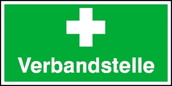 Erste-Hilfe-Schild: Verbandstelle | Aluminium | 40x20cm