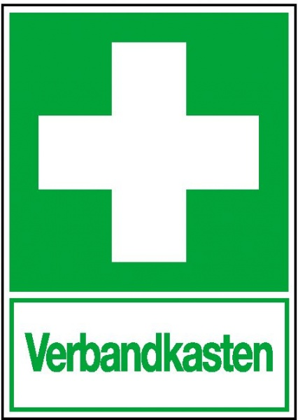 Erste-Hilfe-Schild: Verbandkasten | Aufkleber | 20x30cm