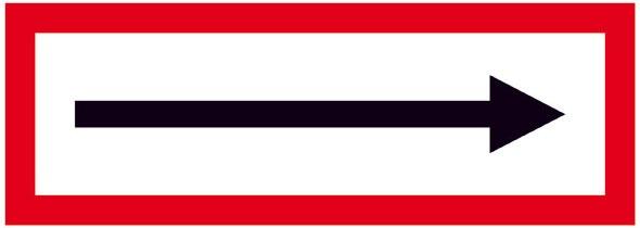 Hinweisschild für die Feuerwehr: Richtungspfeil | Aluminium geprägt | 21x7,4cm