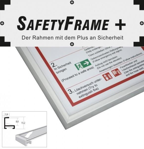 din a3 safetyframe rahmen f r flucht und rettungspl ne silbermatt safetyframe. Black Bedroom Furniture Sets. Home Design Ideas